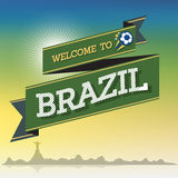 Welcome to Brazil. Greeting sign background Royalty Free Stock Image