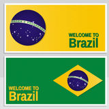 Welcome to Brazil. Set of patriotic banner for website template, cards, posters, logo. Vector illustration. Royalty Free Stock Images