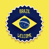 Welcome to Brazil sign royalty free stock photo