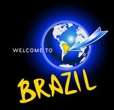 Welcome to Brazil Stock Image