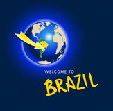 Welcome to Brazil Royalty Free Stock Photography