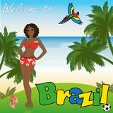Welcome to Brazil, vector illustration Stock Photos