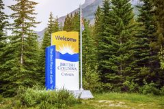 Welcome to British Columbia, Canada. The best place on Earth. Royalty Free Stock Image