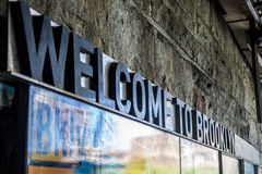 Welcome to Brooklyn New York City USA Big Apple. Welcome to Brooklyn Sign New York City USA Skyline the Big Apple Stock Images