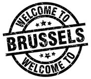 Welcome to Brussels stamp Royalty Free Stock Photo