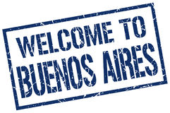 Welcome to Buenos Aires Stock Photo