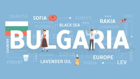 Welcome to Bulgaria. Visit colorful european country Royalty Free Stock Image