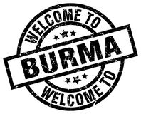 Welcome to Burma stamp. Welcome to Burma round grunge stamp isolated on white background Stock Photography