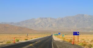 USA, California: Entering California - State Road  Stock Photography