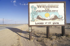 �Welcome to California City� road sign in California City, California Stock Photo