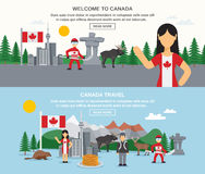 Welcome To Canada Banners Stock Photos