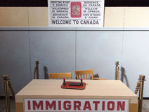 Welcome To Canada. Sign and the table of customs (Halifax, Nova Scotia Royalty Free Stock Images