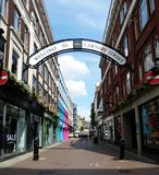 Welcome to Carnaby Street, London royalty free stock photos