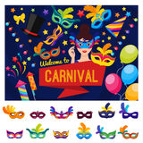 Welcome To Carnival Concept Stock Photography