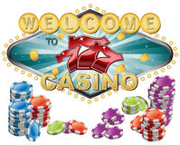 Welcome to Casino stock illustration