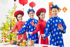 Welcome to celebrate Tet! Stock Photography