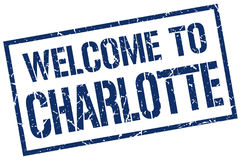 Welcome to Charlotte stamp Royalty Free Stock Image