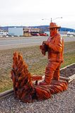 Chetynd British Columbia, Canada Carving. Welcome to Chetynd British Columbia, Canada. Home of World Class Chainsaw Carving stock photos