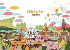 Welcome to Chiang Rai Thailand Stock Photo