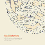 Welcome to China concept. Royalty Free Stock Photo