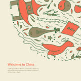 Welcome to China concept. Royalty Free Stock Images