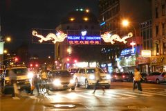 Welcome to Chinatown Sign Stock Photography