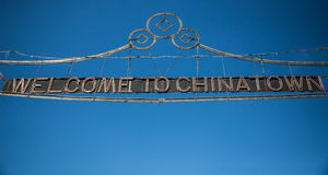Welcome to Chinatown. Sign in Manhattan New York City Stock Photos