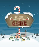 Welcome to Christmas Stock Image