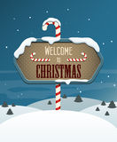 Welcome to Christmas Royalty Free Stock Photography