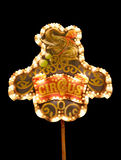 Welcome to the circus. Cirucs-sign at night Royalty Free Stock Images