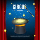 Welcome to Circus Poster Card Template. Vector stock illustration