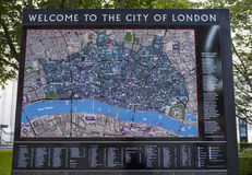 Welcome to the City of London Royalty Free Stock Photos