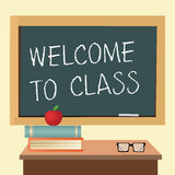 Welcome to class Stock Photo