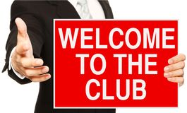 Welcome to the Club Royalty Free Stock Image