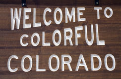 Welcome to Colorado. Wooden sign Royalty Free Stock Images