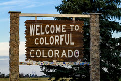 Welcome to Colorado Highway Sign Royalty Free Stock Photos