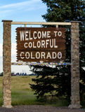 Welcome to Colorado Highway Sign Stock Photography