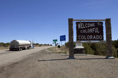 Welcome to Colorado road sign Stock Photography