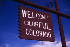 Welcome to Colorado sign Royalty Free Stock Photo
