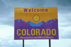 Welcome to Colorado Sign Stock Image