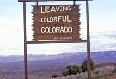 Welcome to Colorado Sign Royalty Free Stock Image