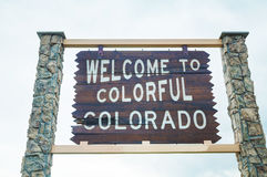Welcome to colorful Colorado sign Stock Image