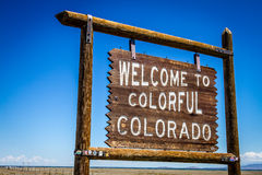 Welcome to Colorful Colorado Sign Royalty Free Stock Photography