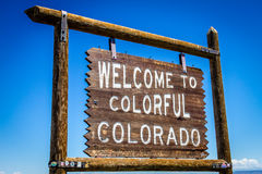 Welcome to Colorful Colorado Sign Royalty Free Stock Photos
