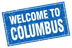 Welcome to Columbus stamp. Welcome to Columbus square grunge stamp Stock Photo