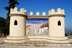 Welcome to Comares sign. Stock Image