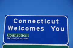 Welcome to Connecticut Sign Royalty Free Stock Images