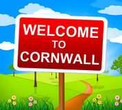 Welcome To Cornwall Means United Kingdom And Britain Stock Photography