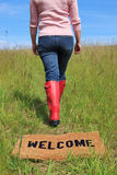 Welcome to the countryside royalty free stock photo