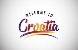 Welcome to Croatia stock photos